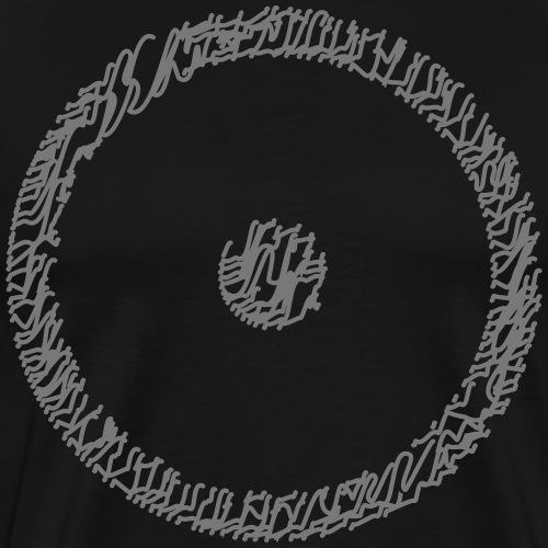Wegzeichen Ziel erreicht- Stift - Farbe wählbar - Männer Premium T-Shirt