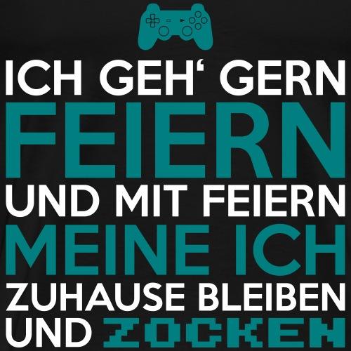 Wie Gamer Feiern - Männer Premium T-Shirt