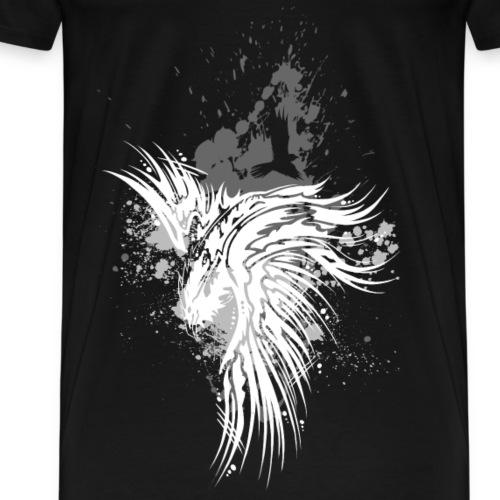 Rabe Kleckse weiß - Männer Premium T-Shirt