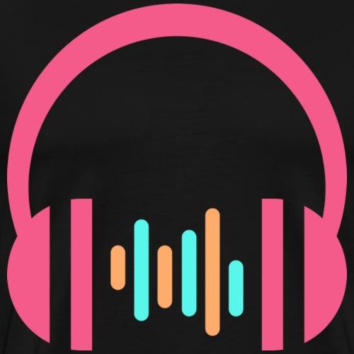 Headphone - Musiclove - Männer Premium T-Shirt