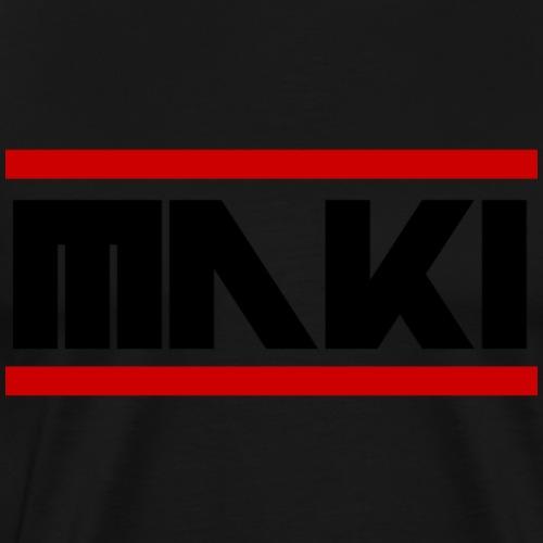 MAKI Schwarze Schrift Logo - Männer Premium T-Shirt