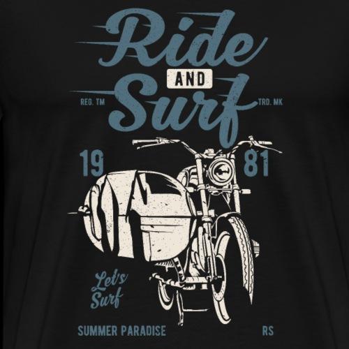 Ride And Surf Wellenreiter - Männer Premium T-Shirt