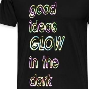 goede ideeën, glow in the dark - Mannen Premium T-shirt