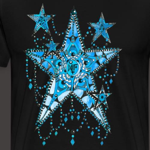 ETOILE DENTELLE BLEUE - T-shirt Premium Homme