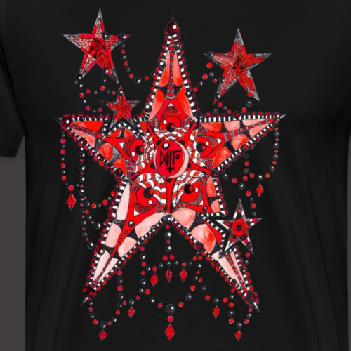 ETOILE DENTELLE ROUGE - T-shirt Premium Homme