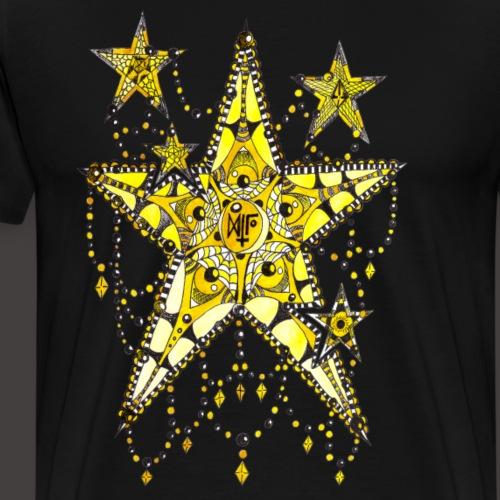 ETOILE DENTELLE JAUNE - T-shirt Premium Homme