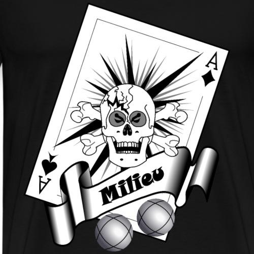 t shirt petanque milieu crane as pointe tir boules - T-shirt Premium Homme