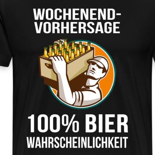 Wochenendvorhersage - Männer Premium T-Shirt