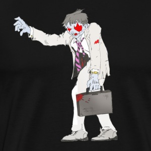 Zombie Collection: Suit Zombie - Men's Premium T-Shirt