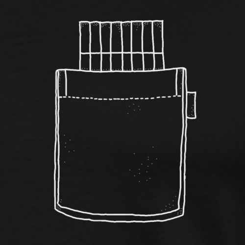 cigarette pocket - Männer Premium T-Shirt