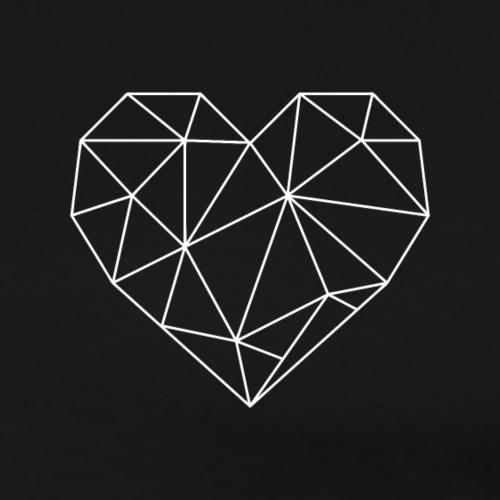 Coeur géométrique - T-shirt Premium Homme