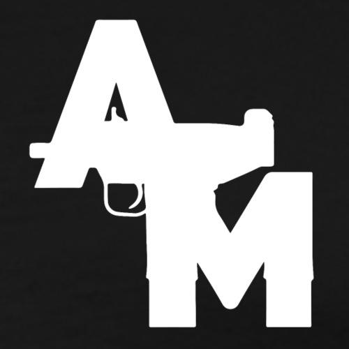 AM Blanc imprimé au niveau de la poitrine - T-shirt Premium Homme