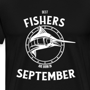 Present for fishers born in September - Men's Premium T-Shirt