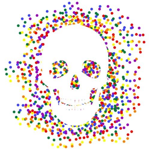 Homosexual - Skull & Confetti - Männer Premium T-Shirt