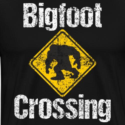 Bigfoot Crossing Sign Sasquatch Distressed - Männer Premium T-Shirt
