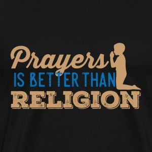 Prayers over Religion - Men's Premium T-Shirt