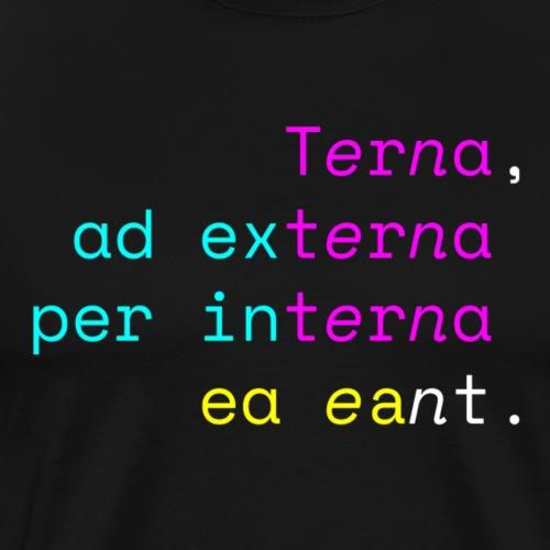 Terna Nigra - Maglietta Premium da uomo