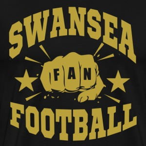 Swansea Football Fan - Premium-T-shirt herr