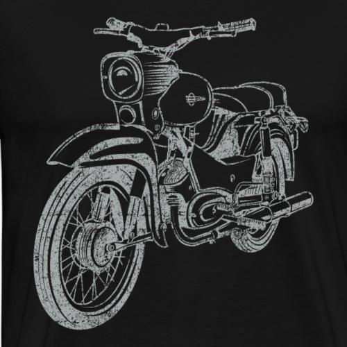 Simson Star Vintage Lineart Silhouette - Männer Premium T-Shirt