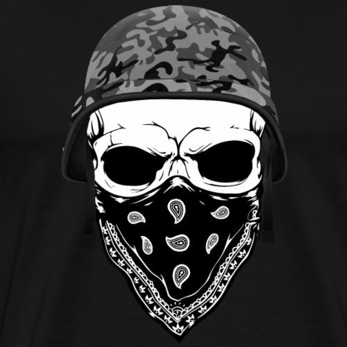 Skull Camo Helm - Männer Premium T-Shirt