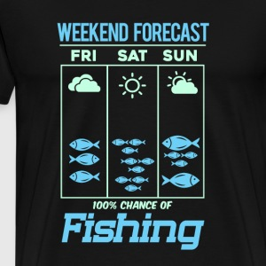 Fishing Design Weekend Forecast - Men's Premium T-Shirt
