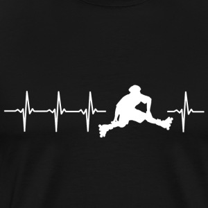 I love roller (heartbeat patin) - T-shirt Premium Homme