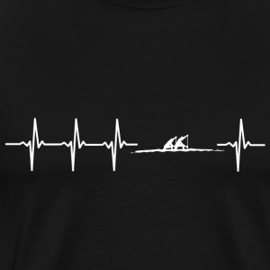 I love rowing (rowing heartbeat) - Men's Premium T-Shirt