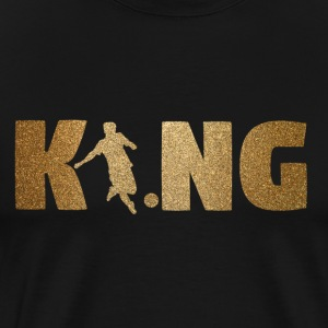 KING Fotball! Fotball! Ball! Gave! - Premium T-skjorte for menn