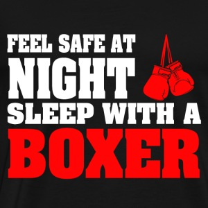 SLEEP WITH A BOXER - Men's Premium T-Shirt