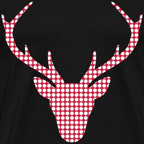 Hirsch Hirschkopf Geweih - Männer Premium T-Shirt
