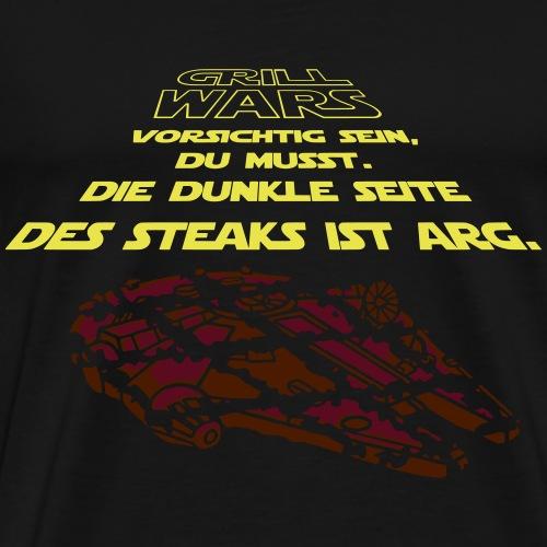 Grill Wars Schürze - Männer Premium T-Shirt