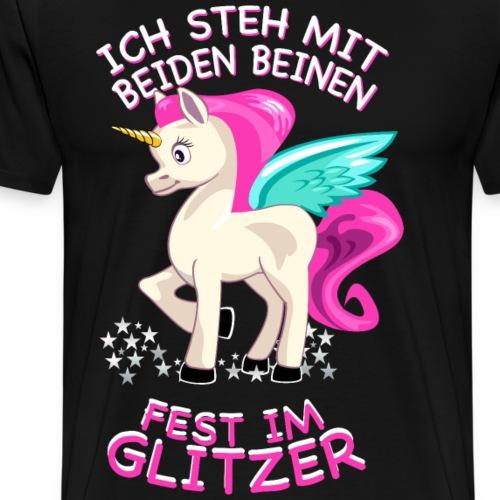 Einhorn im Glitzer - Einhörner / Geschenk - Männer Premium T-Shirt