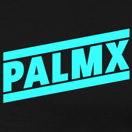 PalmX Stripes Cyan - Men's Premium T-Shirt