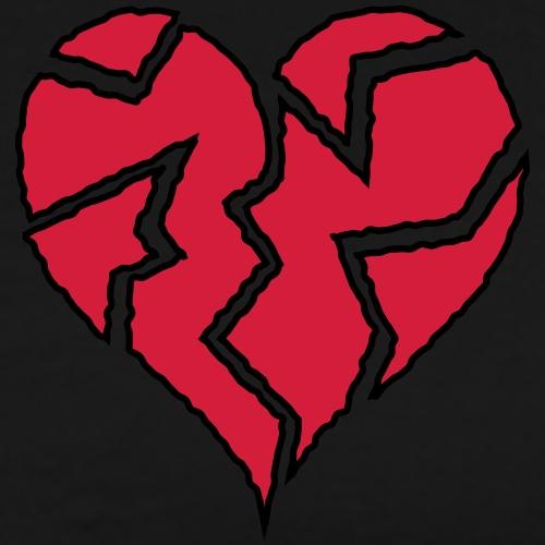 Flickering Broken Heart <3 - Men's Premium T-Shirt