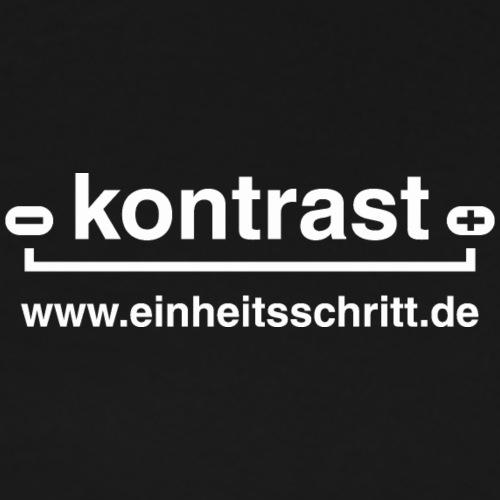 kontrast - Logo weiß - Männer Premium T-Shirt