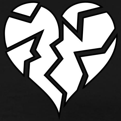 White HeartBroken - Men's Premium T-Shirt