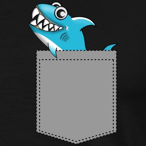 Pocket Shark, Geschenkidee - Männer Premium T-Shirt