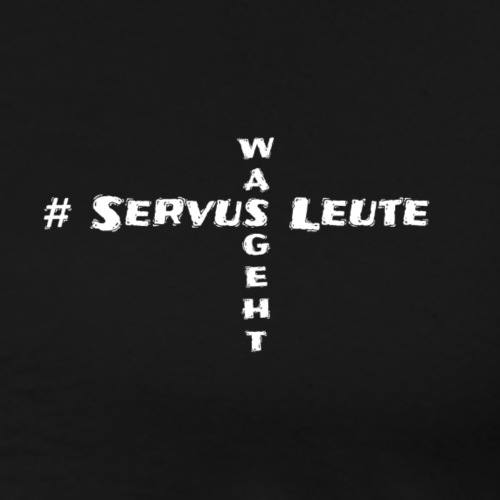 #Servus Leute Kreuz - Männer Premium T-Shirt