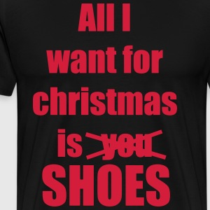 Christmas song saying shoes - Men's Premium T-Shirt