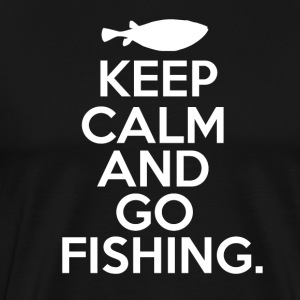 Keep Calm - Go Fishing - Mannen Premium T-shirt