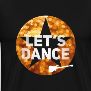 Disco dancing glamor swag 80s guitar gold star - Men's Premium T-Shirt