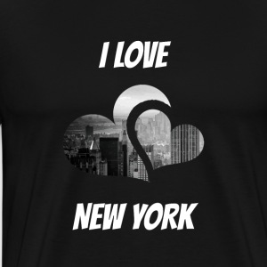 I love New York I love NY - Maglietta Premium da uomo