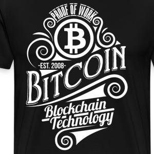 Bitcoin vuosikerta suunnittelu 04 - Miesten premium t-paita
