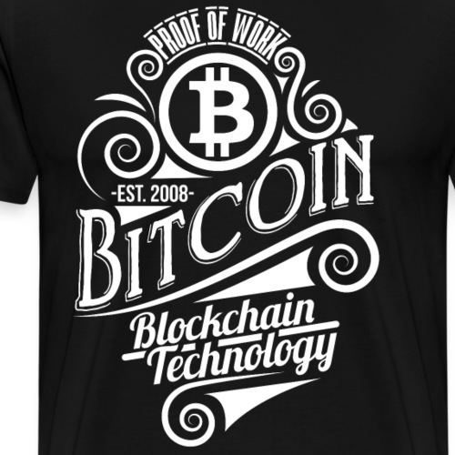 Bitcoin diseño de la vendimia 04 - Camiseta premium hombre