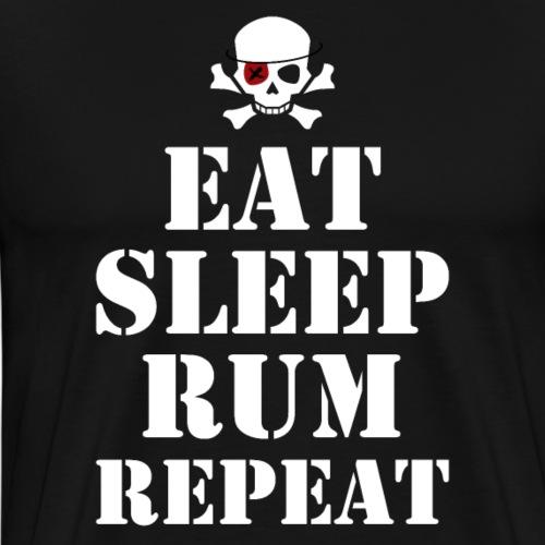 Eat Sleep Rum Repeat - Männer Premium T-Shirt