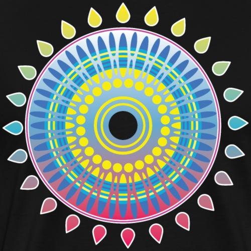Bunte Sonne Abstrakt Art - Männer Premium T-Shirt