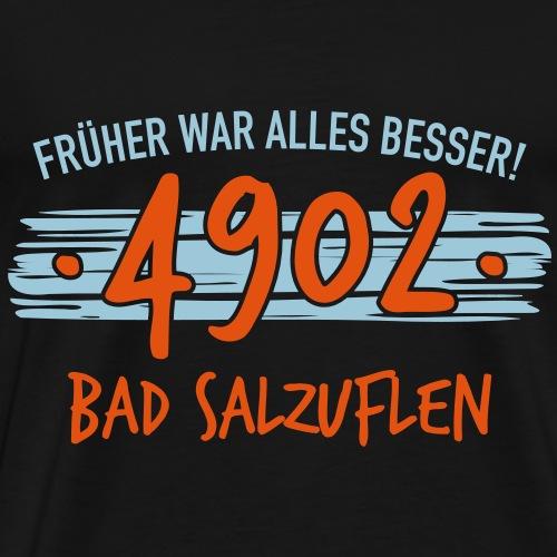 Früher 4902 Bad Salzuflen Geschenk - Männer Premium T-Shirt