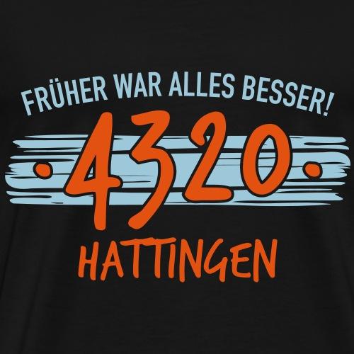 Früher 4320 Hattingen Geschenk - Männer Premium T-Shirt