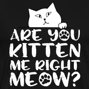 Are you kitten me right meow? - Männer Premium T-Shirt