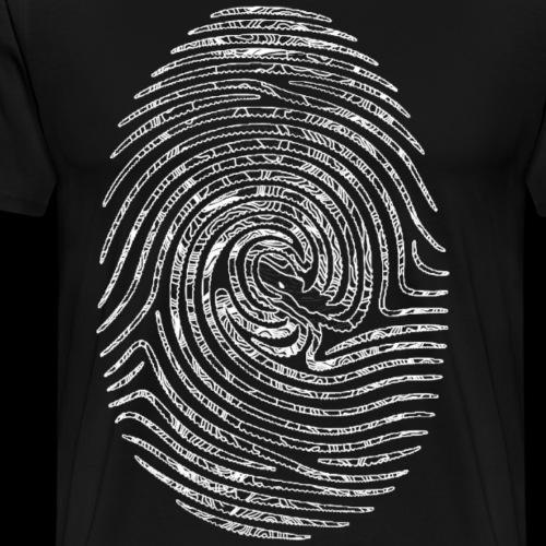 Tintenfisch Fingerabdruck weiss - Männer Premium T-Shirt